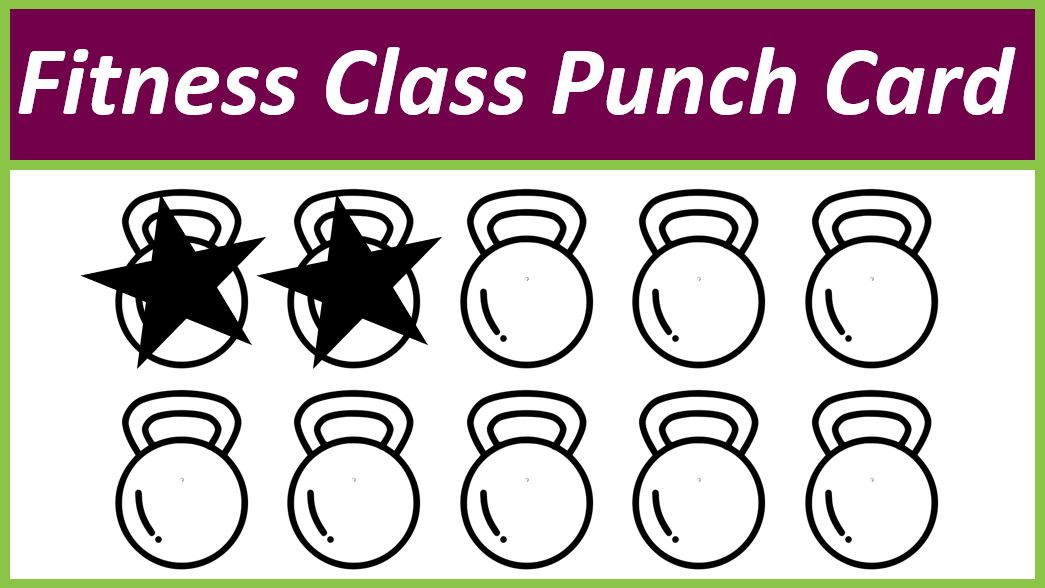 Fitness Class Punch Card